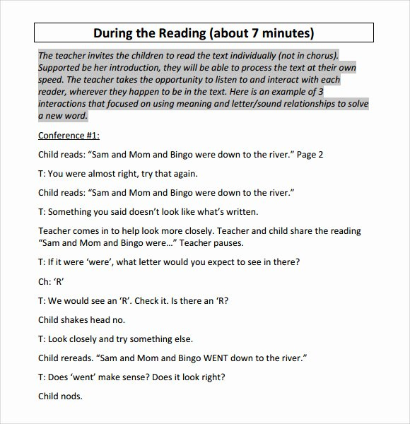 Reading Lesson Plan Template Unique Sample Guided Reading Lesson Plan 8 Documents In Pdf