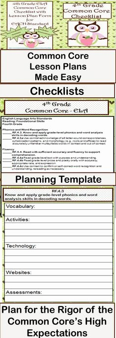 Reading Mastery Lesson Plan Template Fresh Mon Core I Can Statements On Pinterest