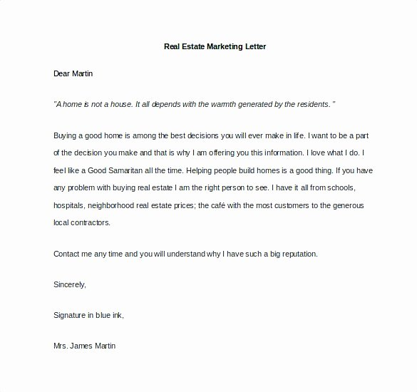 Real Estate Introduction Letter to Friends Template Unique Real Estate Introduction Letter to Friends Template
