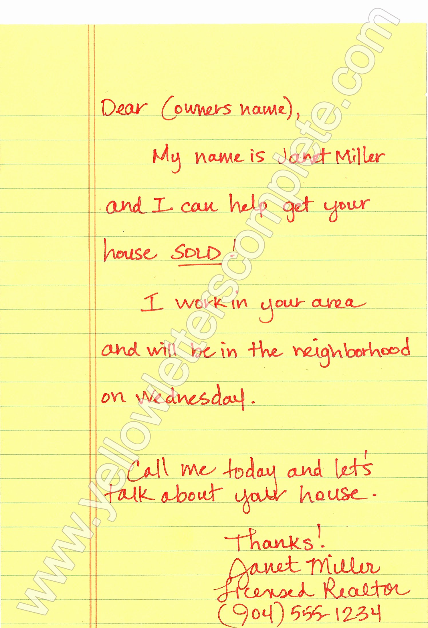 Real Estate Investor Letter Templates Best Of Yellow Letter Templates