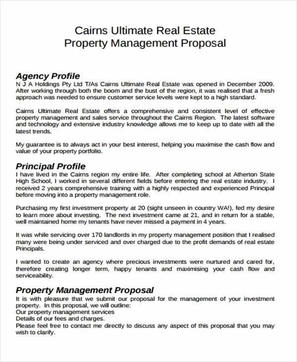 Real Estate Investor Letter Templates Elegant Free Examples Of Business Proposals – Free Sample