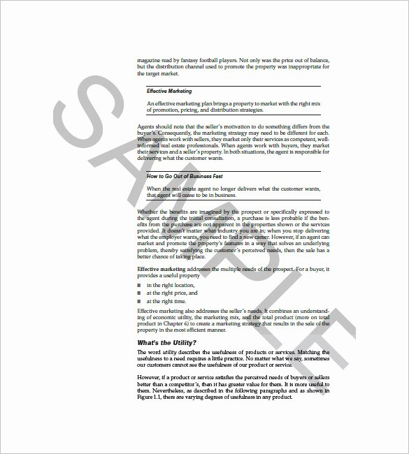 Real Estate Marketing Plan Template Best Of 8 Sales and Marketing Plan Templates Doc Pdf