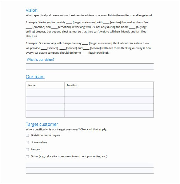 Real Estate Marketing Plan Template Elegant Marketing Plan Outline Template 13 Free Sample Example