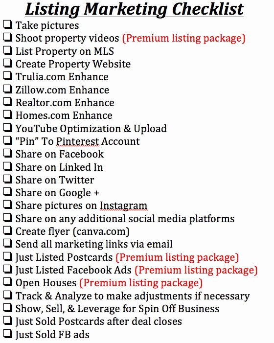 Real Estate Marketing Plan Template Fresh Listing Presentation Must Do S