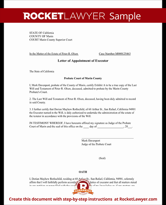 Real Estate Proof Of Funds Letter Example Best Of Letter Of Appointment Of Executor Template with Sample