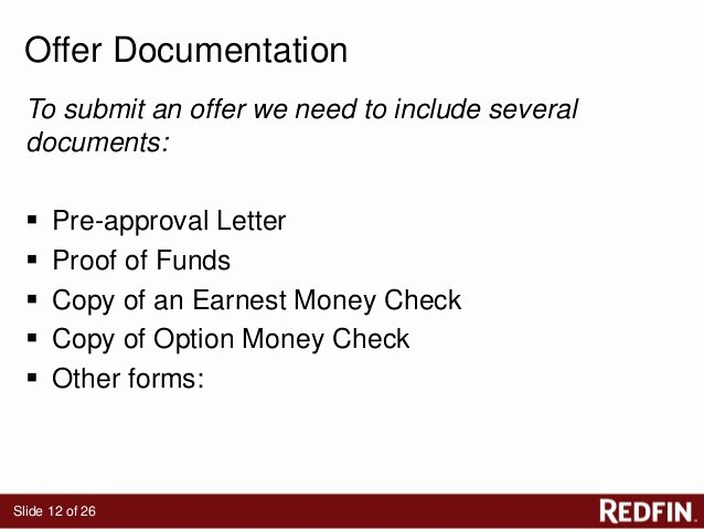 Real Estate Proof Of Funds Letter Example Best Of Redfin S Free Contract Class Dallas