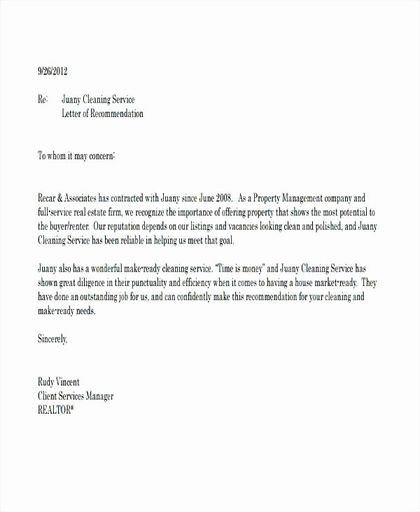 Realtor Recommendation Letter Examples Beautiful Real Estate Agent Re Mendation – Afalina