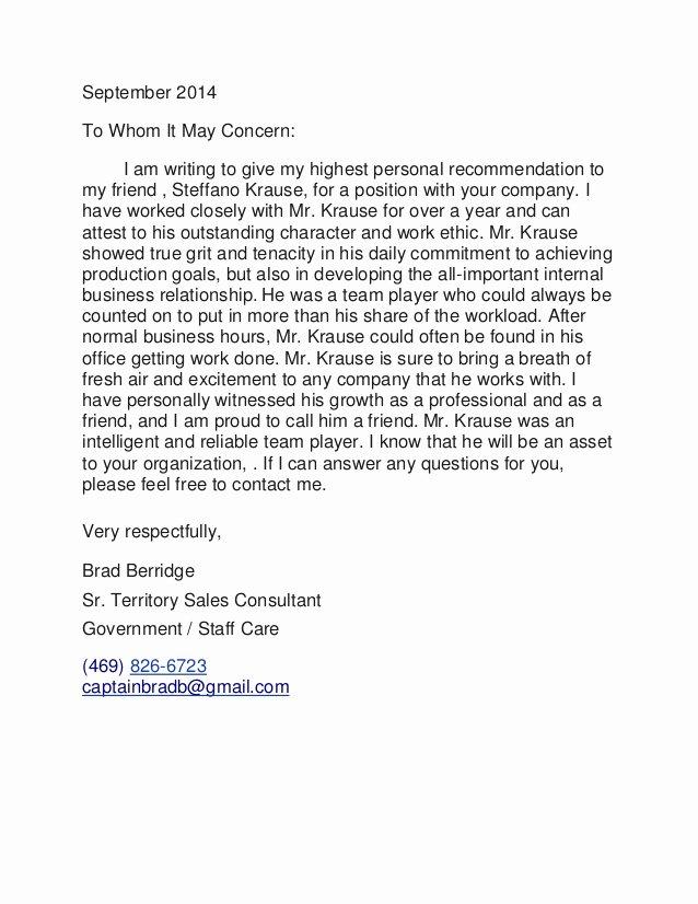 Realtor Recommendation Letter Examples Elegant Written Re Mendation