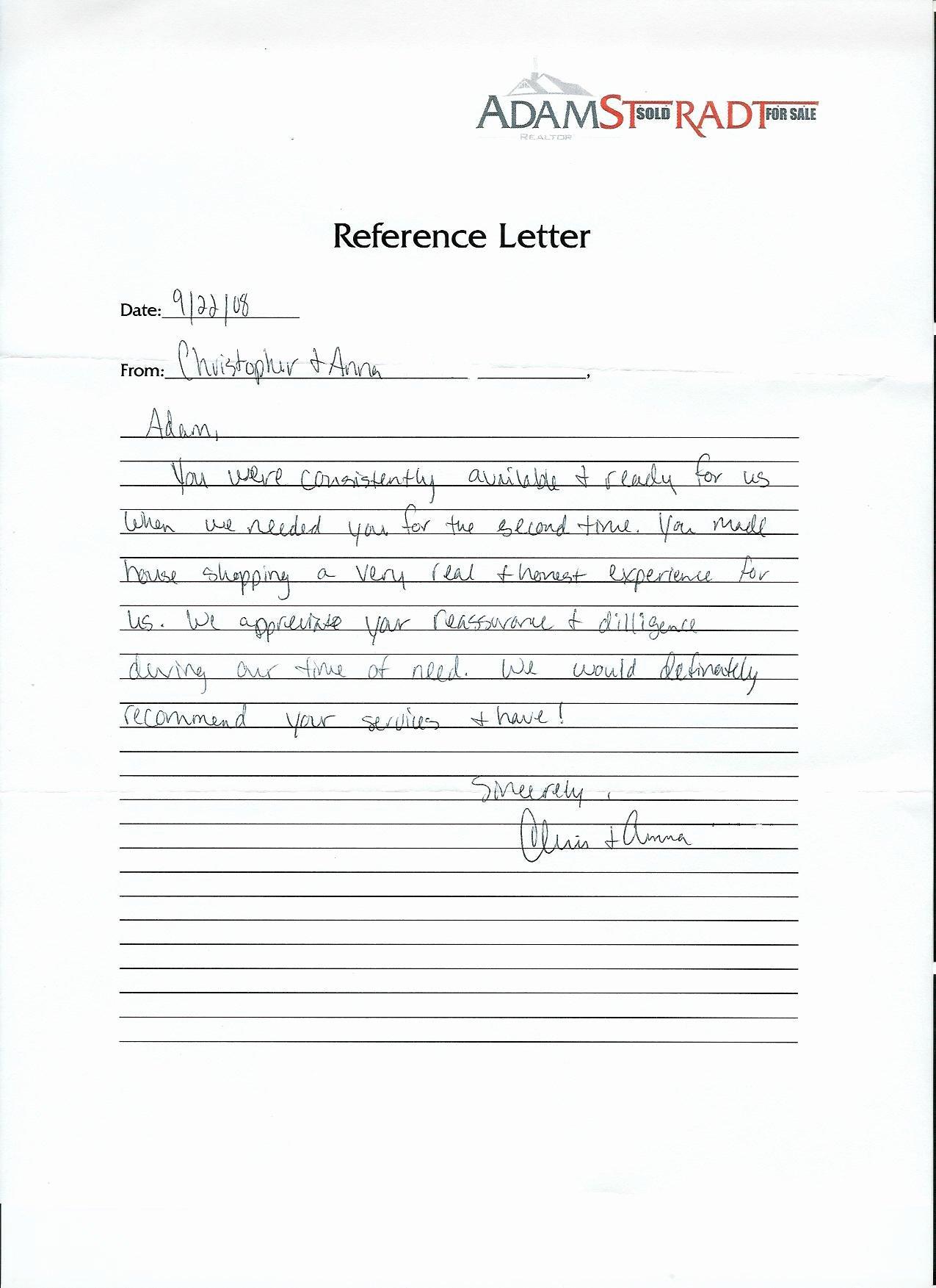 Realtor Recommendation Letter Examples Luxury Adam Stradt Realtor