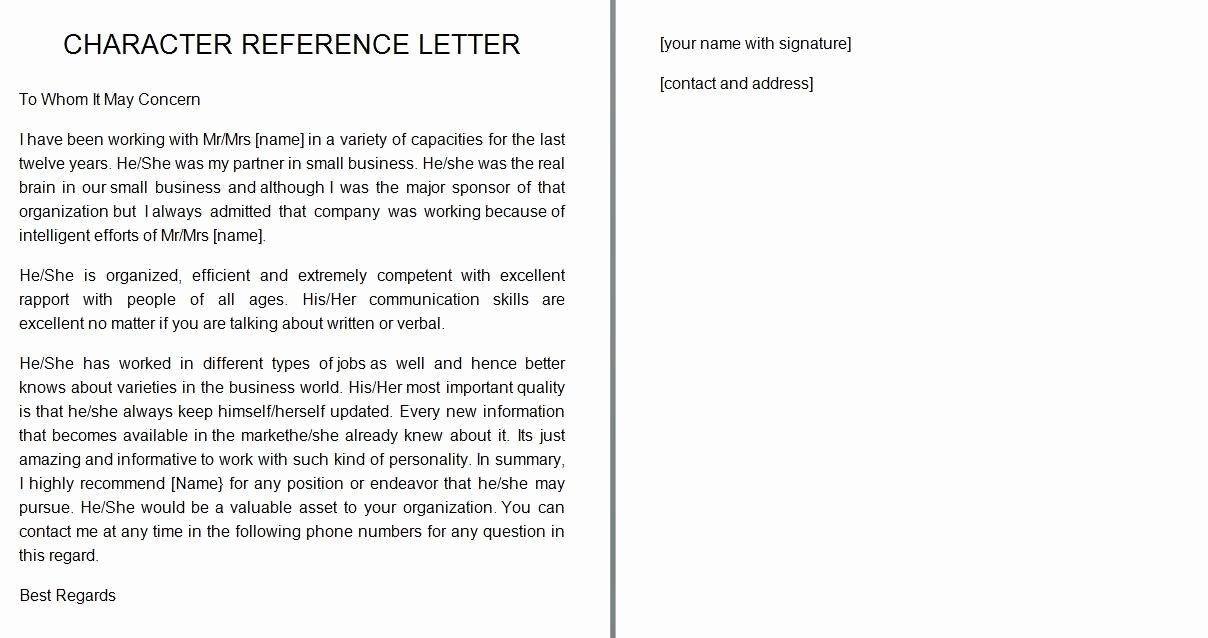 Realtor Recommendation Letter Examples New 40 Awesome Personal Character Reference Letter