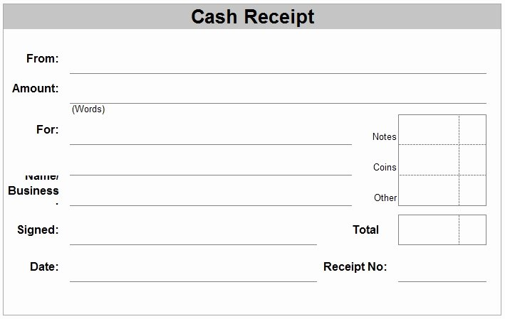 Receipt for Cash Payment Awesome Free Receipt forms