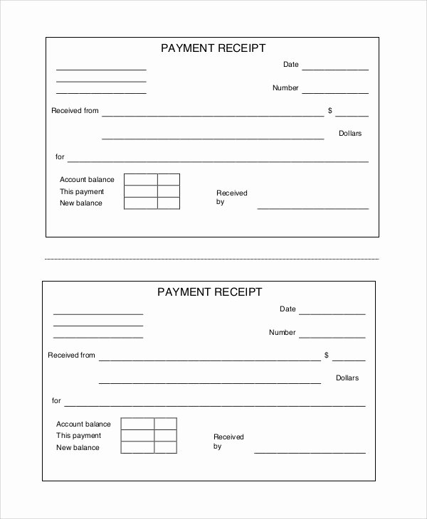 Receipt for Cash Payment Best Of 10 Free Printable Receipts