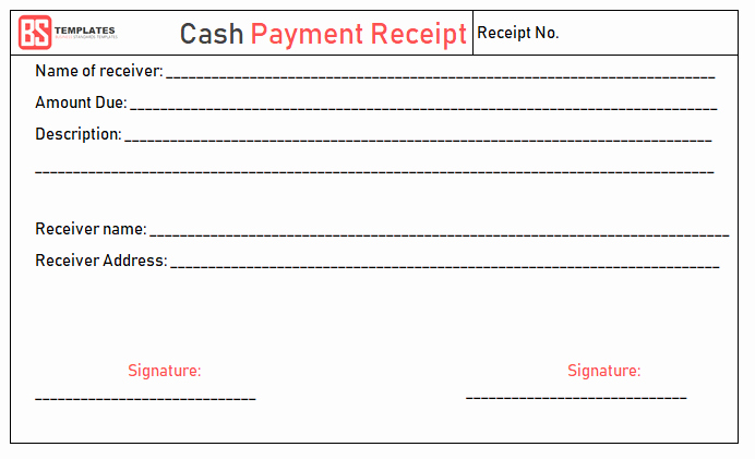 Receipt for Cash Payment Luxury Payment Receipt Template – Free Simple Word Excel