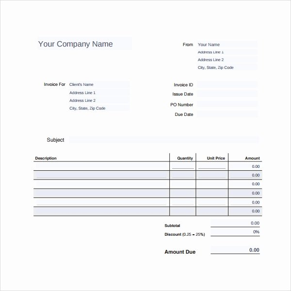 Receipt for Service Template Inspirational Sample Service Receipt Template 8 Free Documents In Pdf