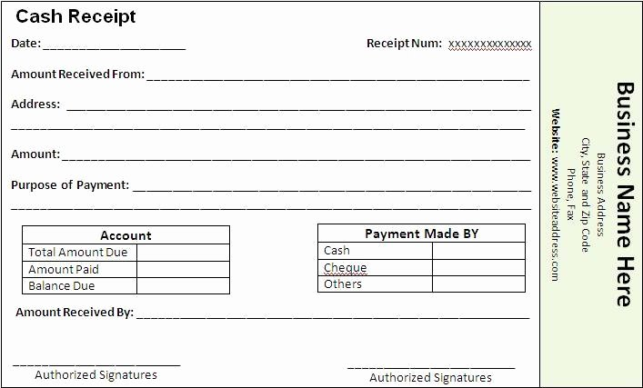 Receipt for Service Template New Payment Receipt Template