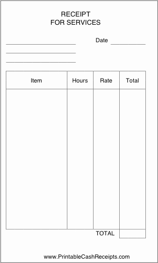 Receipt for Service Template Unique This Simple Receipt Can Be Used by A Business Freelancer