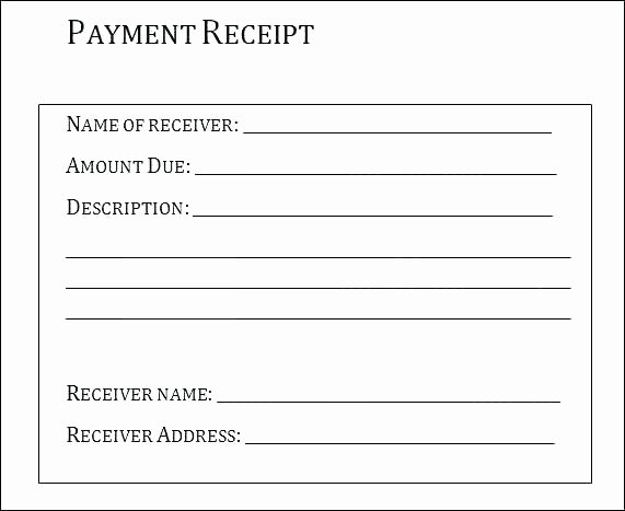 Receipt for Services Rendered Inspirational Template Receipt for Services Rendered