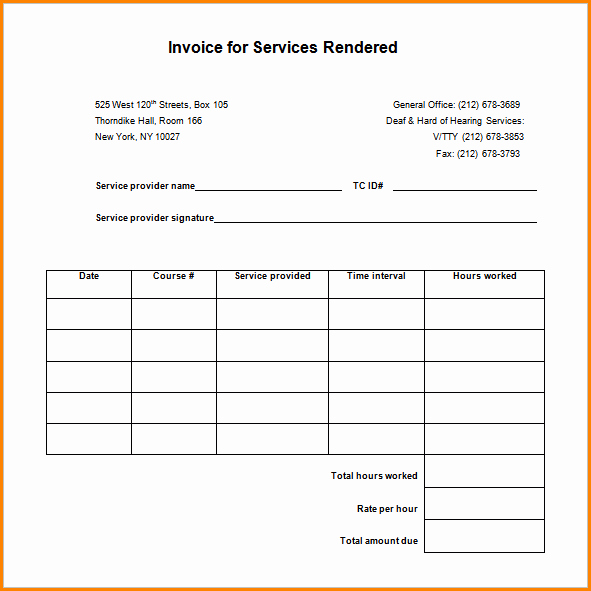 Receipt for Services Rendered Lovely 5 Receipt for Services Rendered Template