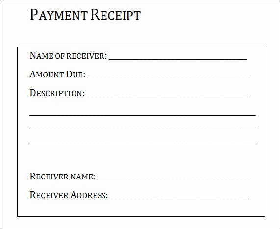 Receipt format for Payment Received Awesome 31 Payment Receipt Samples – Pdf Word Excel Pages