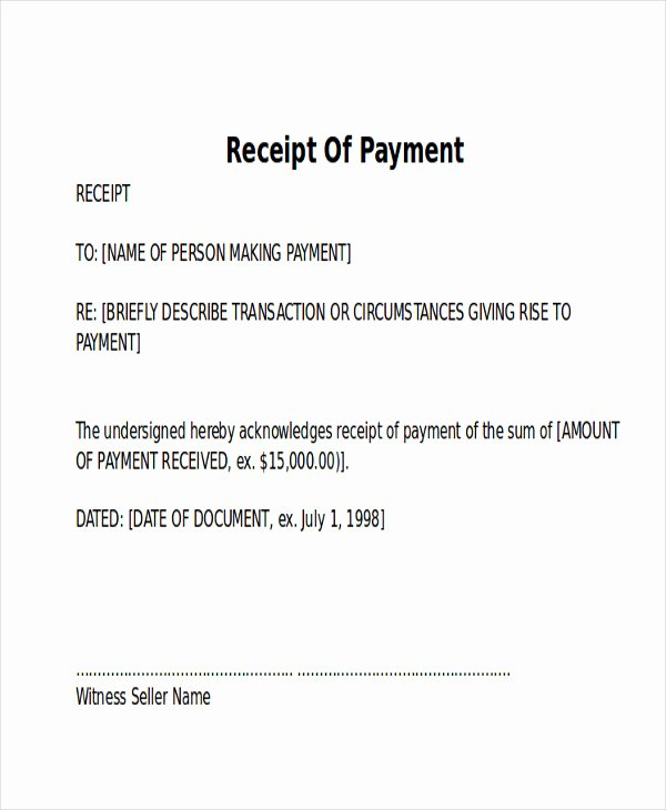 Receipt format for Payment Received Elegant 10 Receipt Of Payment Letters Pdf Doc Apple Pages