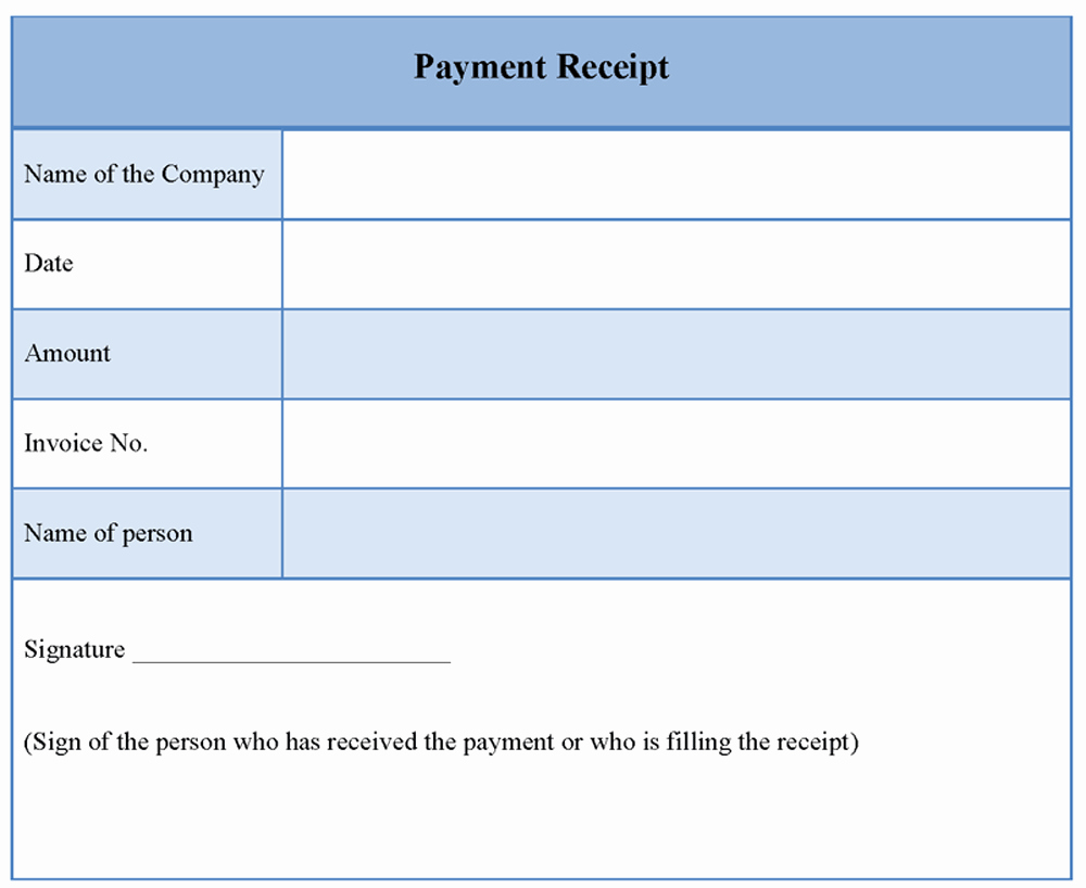 Receipt format for Payment Received Lovely Receipt Payment Template Word