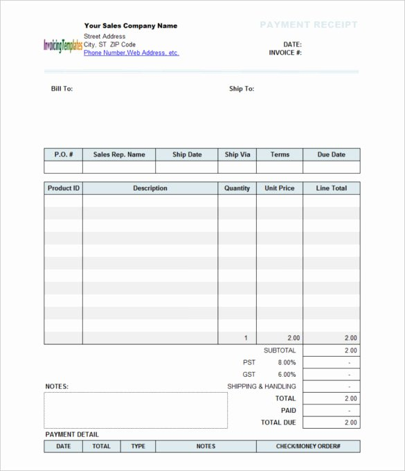 Receipt format for Payment Received Unique 40 Payment Receipt Templates Doc Pdf