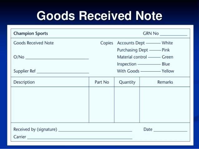 Receipt Of Goods form Inspirational 15 Goods Receipt Note format