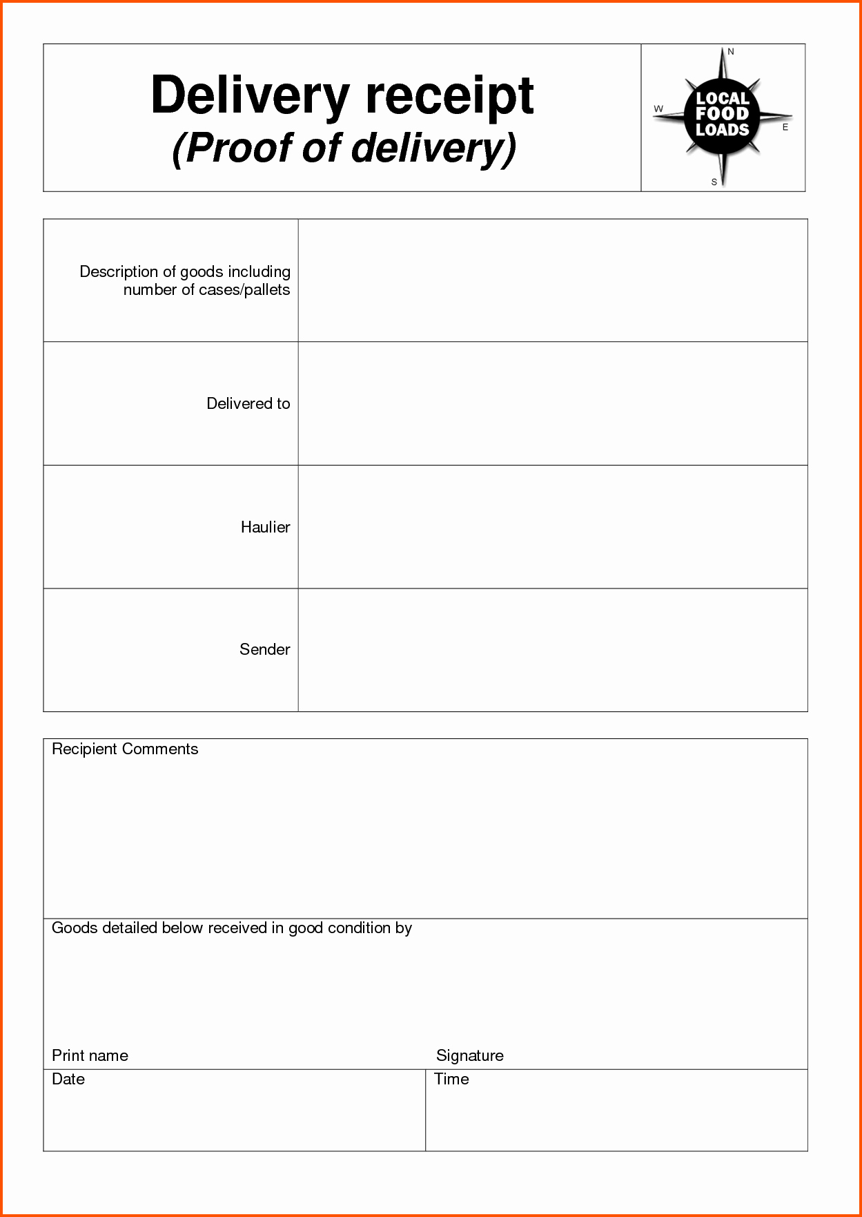 Receipt Of Goods Template Best Of 7 Delivery Receipt Template Ideas Receipt Goods