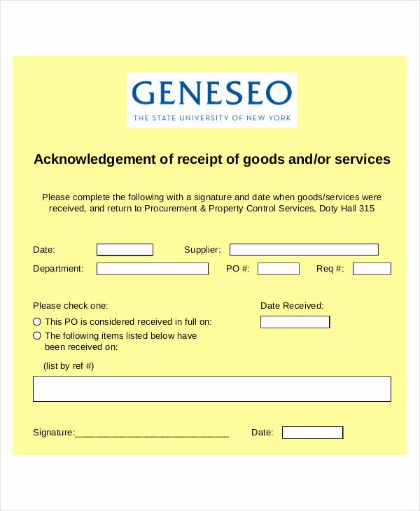 Receipt Of Goods Template Fresh 31 Receipt form Templates