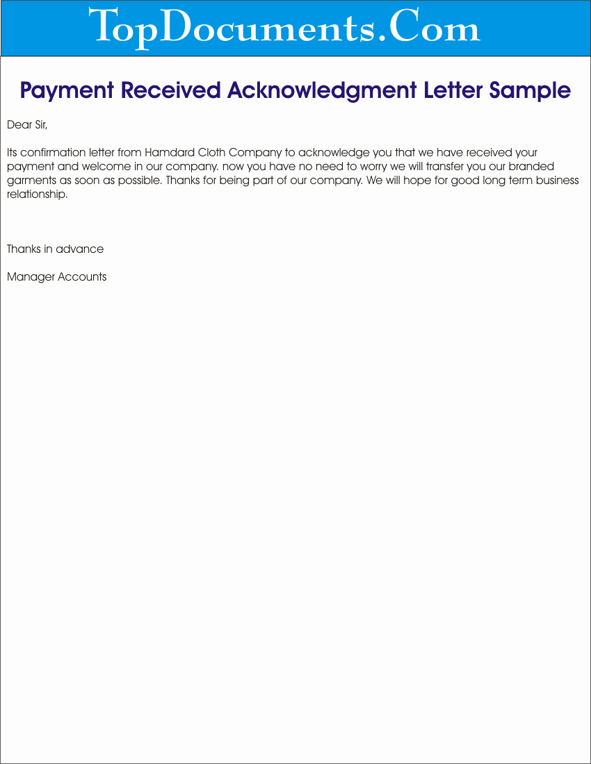 Receipt Of Payment Letter Fresh Payment Archives topdocuments