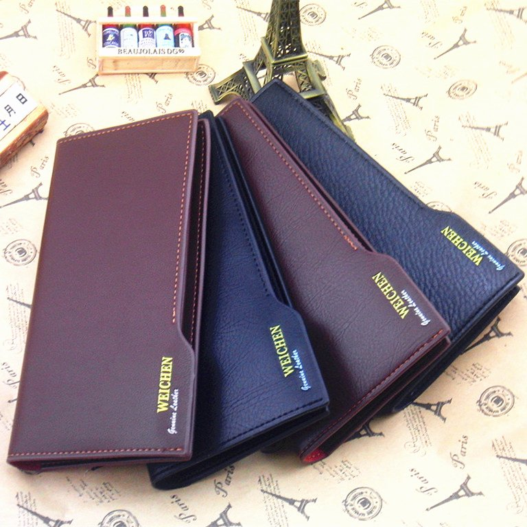 Receipt organizer for Small Business Beautiful Business Handbag New Men Leather Bifold Wallet