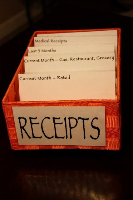 Receipt organizer for Small Business Best Of 25 Best Ideas About organize Receipts On Pinterest