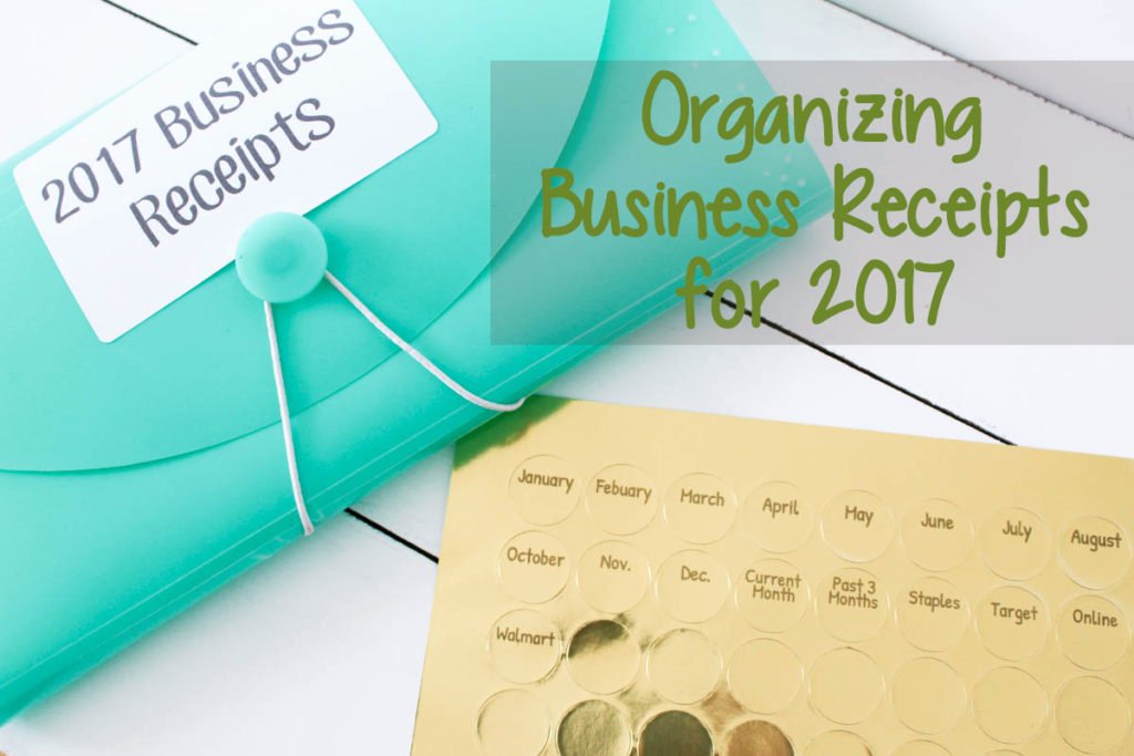 Receipt organizer for Small Business Fresh organizing Business Receipts for 2017