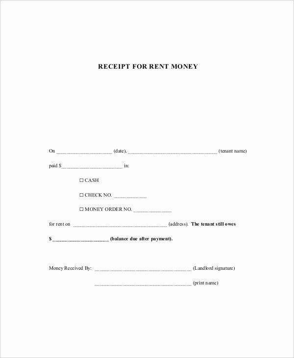 Receipts for Rent Paid Inspirational Receipt Template 10 Free Word Pdf Documents Download