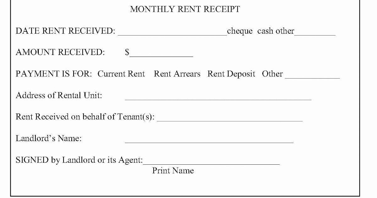 Receipts for Rent Paid Lovely Tario Landlord and Tenant Law Rent Receipts What is