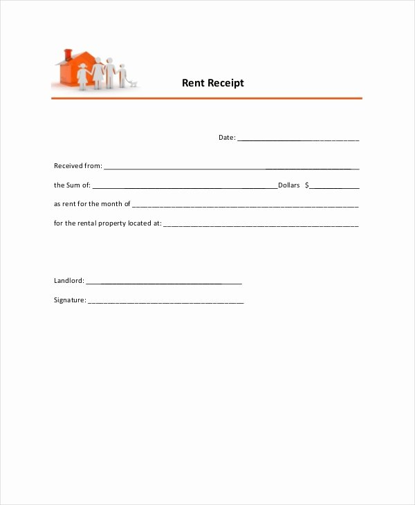 Receipts for Rent Paid New Rent Receipt Template 9 Free Word Pdf Documents