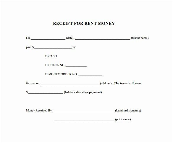 Receipts for Rent Paid Unique 21 Rent Receipt Templates