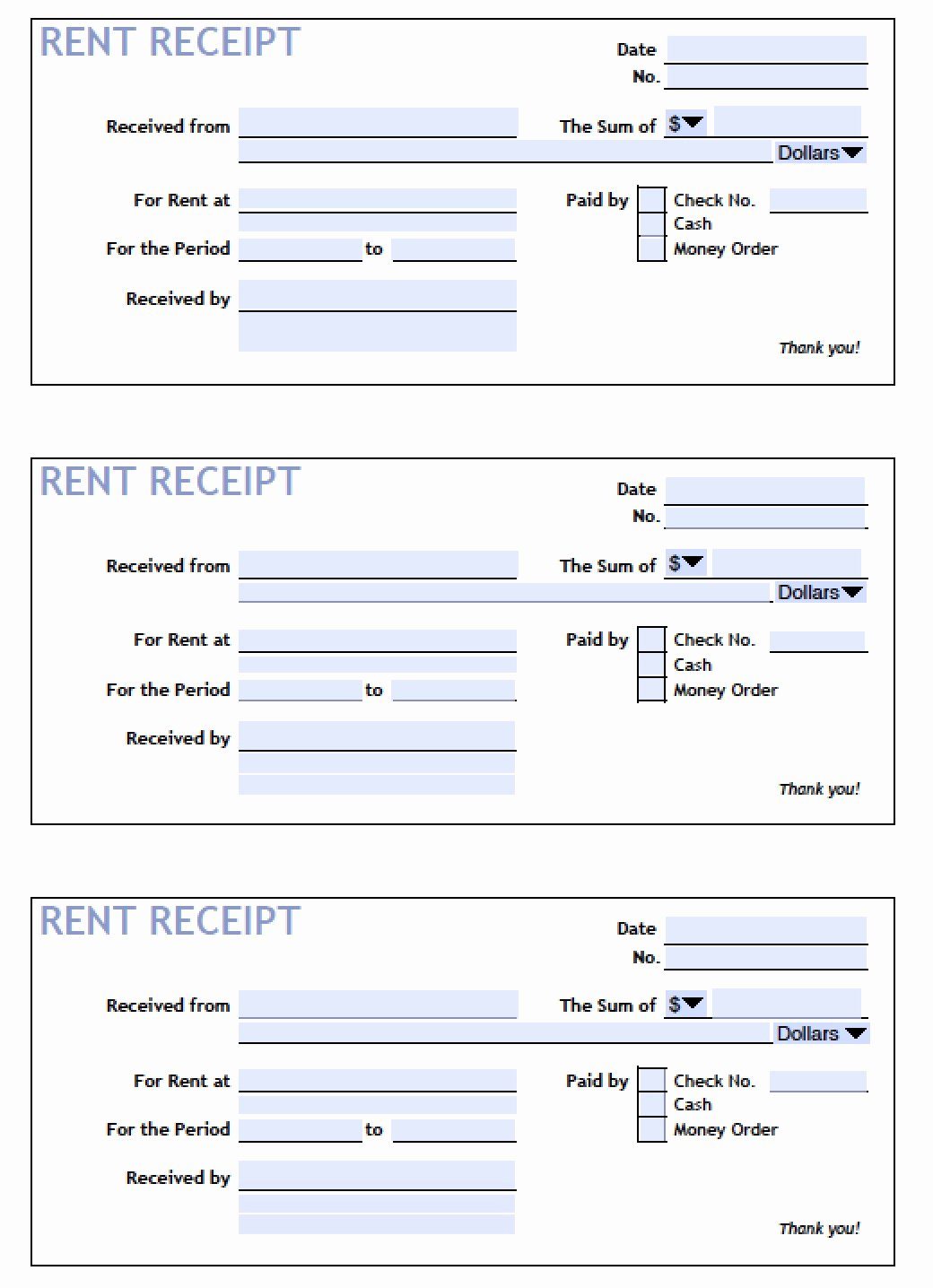 Receipts for Rental Payments Inspirational Download Printable Rent Receipt Templates Pdf