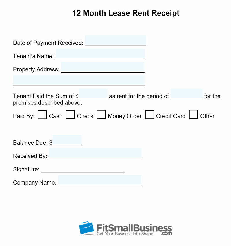 Receipts for Rental Payments Inspirational Free Printable Rent Receipt Template Download