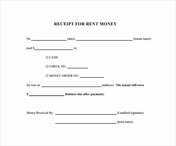 Receipts for Rental Payments Luxury 21 Rent Receipt Templates