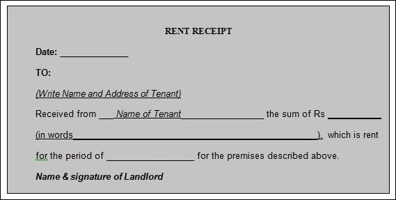 Receipts for Rental Payments Unique 21 Rent Receipt Templates