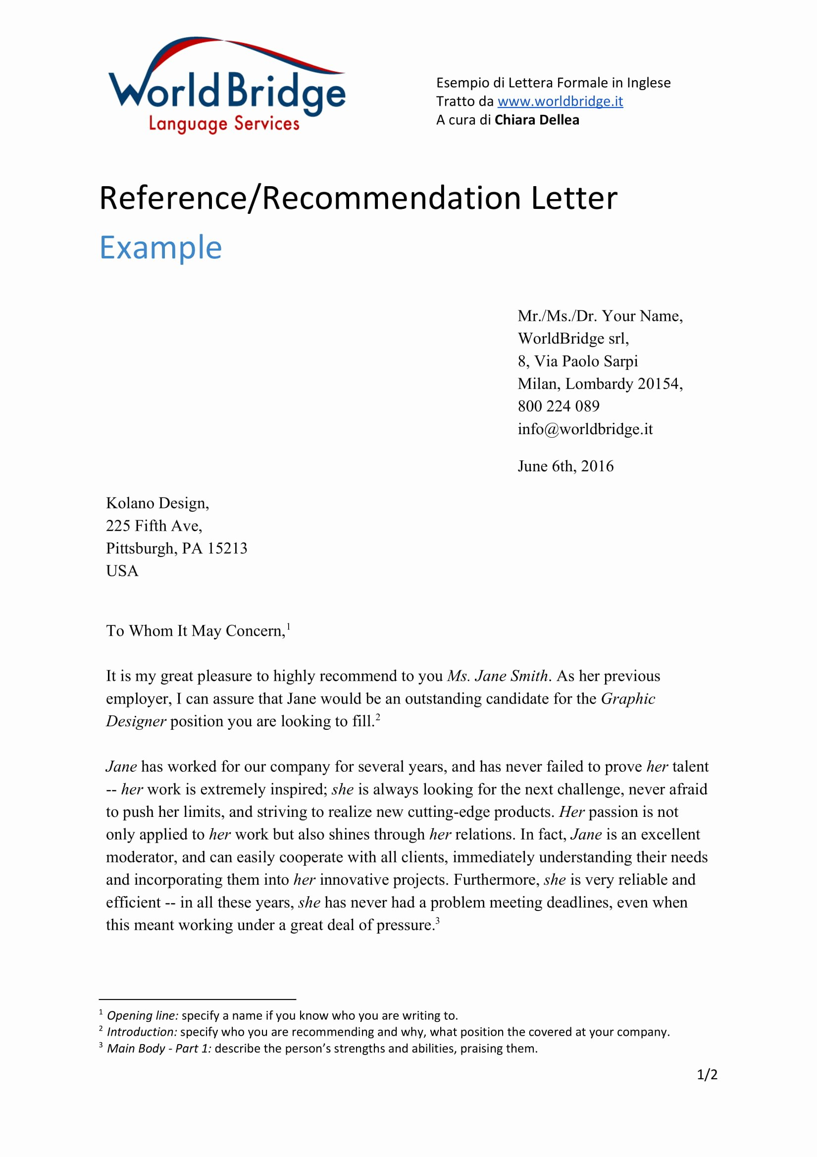 Recommendation Letter Computer Science Lovely Letter Re Mendation From Employer for Ms In Puter
