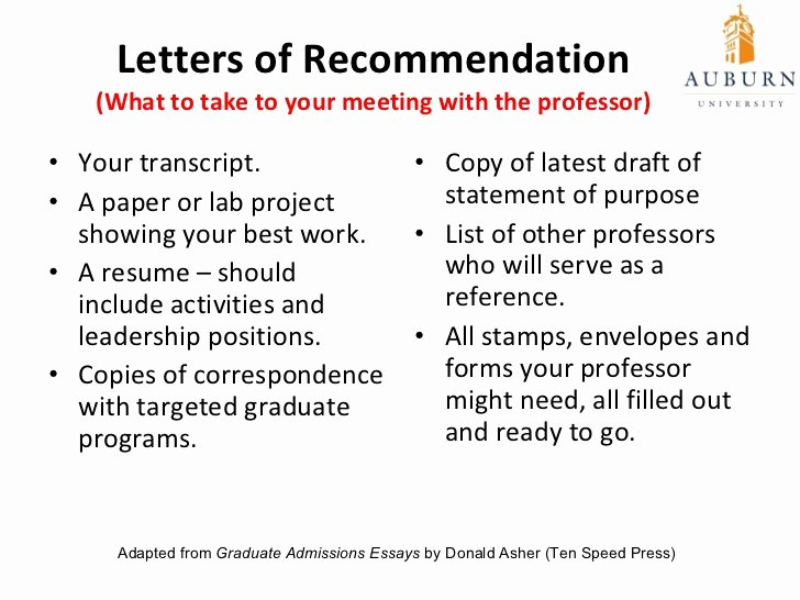 Recommendation Letter Computer Science Luxury Going to Graduate School