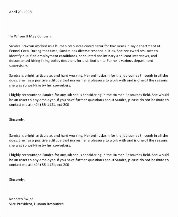 Recommendation Letter for A Coworker Beautiful 13 Coworker Re Mendation Letter Templates Pdf Doc