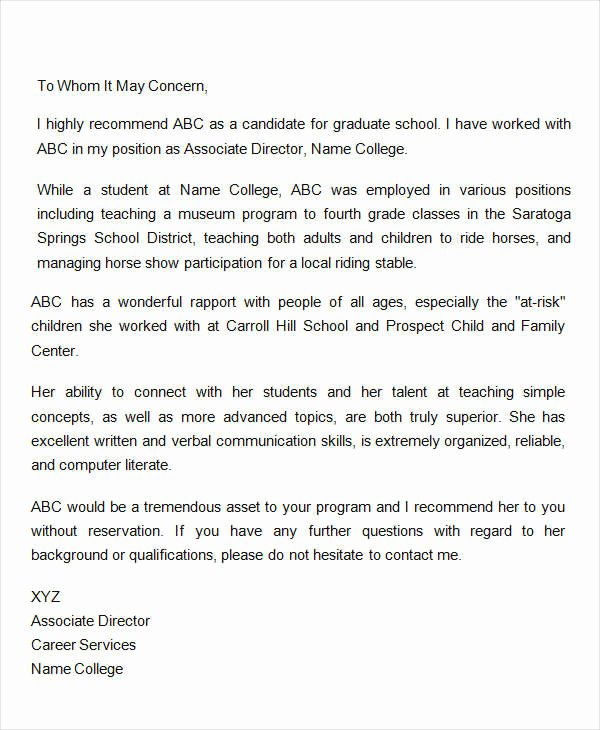 Recommendation Letter for A Coworker New Coworker Re Mendation Letter 10 Free Word Pdf