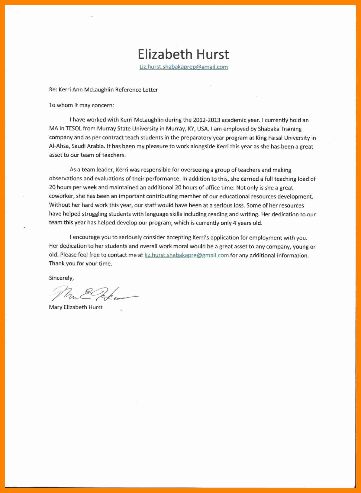 Recommendation Letter for A Coworker New Template for Writing A Letter Re Mendation for A