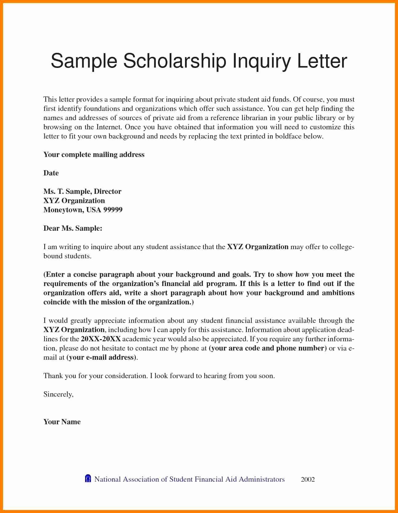 Recommendation Letter for A Scholarship Unique 6 Re Mendation Letter for Students Scholarships