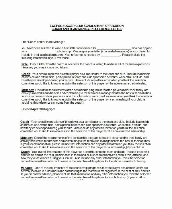 Recommendation Letter for A Scholarship Unique Scholarship Re Mendation Letter Free Sample Example