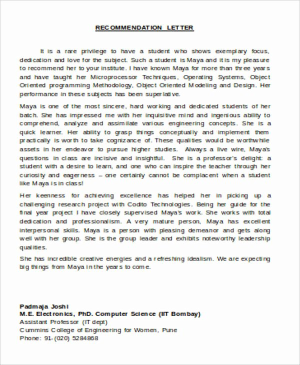 Recommendation Letter for assistant Professor Awesome 54 Re Mendation Letter Example Templates