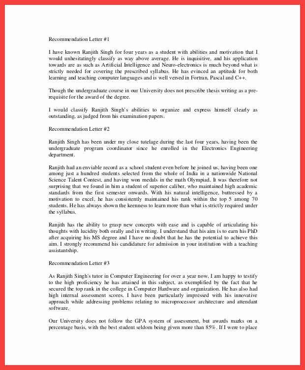 Recommendation Letter for Award Nomination Inspirational Award Re Mendation Letter